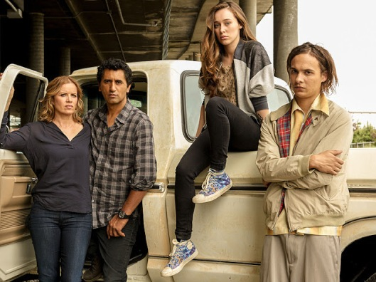 From left: Kim Dickens, Cliff Curtis, Alycia Debnam-Carey and Frank Dillane in fear The Walking Dead