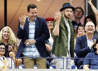 "Jimmy Fallon and singer-actor Justin Timberlake fake Beyonce's ""Single Ladies"" Dance Moves"